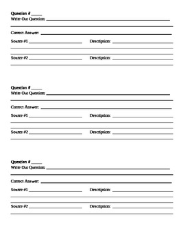 Test Revision Template for Students