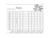 Test Score Graphing for kids