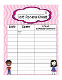 Test Score Record Sheet for Students