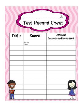 test score record sheet for students by fourth grade focus tpt