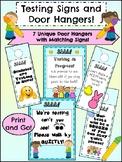 Test Signs and Door Hangers