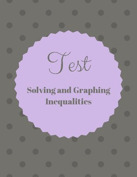 Test- Solving and graphing inequalities