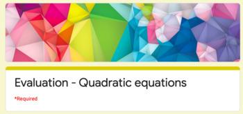 Test - Solving quadratic equations (Google Forms)
