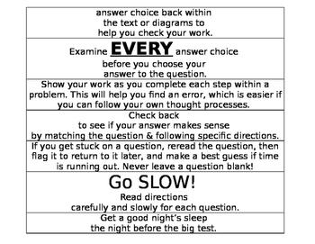 Test Strategies Countdown Chain