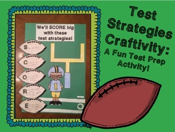 Test Strategies Craftivity: A Fun Test Prep Activity