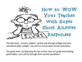 Test Strategies: How To Answer Short Answer Questions