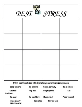 Test Stress BINGO