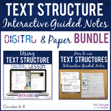 Test Structure Guided Notes Digital AND Paper BUNDLE!