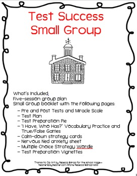 Test Success End of Grade Small Group Plan and Activities