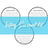 Test Survival Kit Label