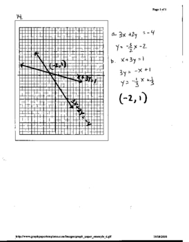 Test:  Systems of Equations, Algebra 2, Honors or Regular