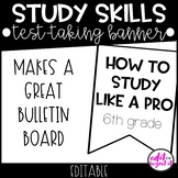 Test Taking Banner | Study Tips  {EDITABLE}