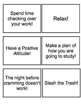 Test Taking Bingo