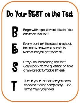 Test Taking Encouragement:  Do Your BEST