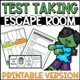Test Taking Strategies Lesson Escape Room