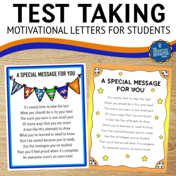 Testing Note to Students