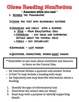 Multiple Choice and Reading Test Taking Tips and Guided Notes