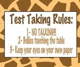 Test Taking Poster