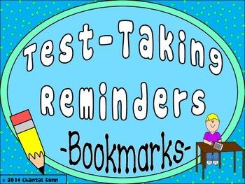 Test Taking Reminders {Bookmark Strips}