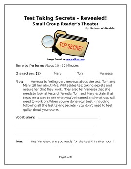 Test Taking Secrets REVEALED! - Small Group Reader's Theater