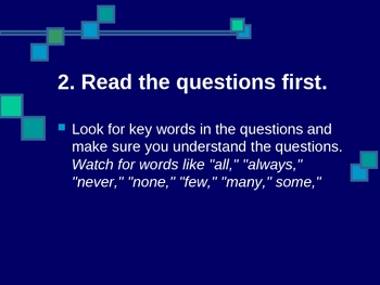 Test Taking Skills PowerPoint