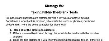 Test Taking Skills Unit