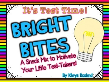 Test Taking Snack Mix -  Bright Bites Snack Mix {Fun Poem} and {Bag Toppers}