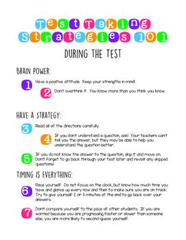 Test Taking Strategies 101