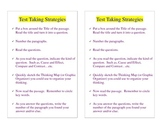 Test Taking Strategies Book Mark