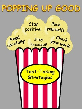 Test-Taking Strategies Bulletin Board {Popcorn Theme}