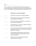 Test-Taking Strategies Checklist