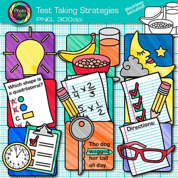 Test Taking Strategies Clip Art - Reduce Test Anxiety