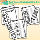 Test Taking Strategies Clip Art | Great for Worksheets & Handouts | B&W