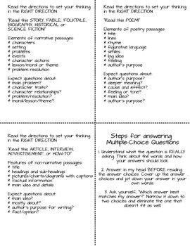 Test Taking Strategies- Common Core Aligned for Reading & Writing Grades 3-5