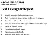 Test Taking Strategies / Follow Directions Prank/Fake Quiz