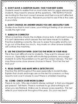 Test-Taking Strategies- List of Top Ten