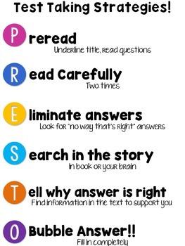 Test Taking Strategies (PRESTO)