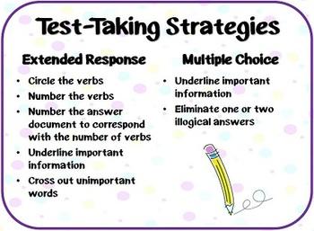 Test-Taking Strategies Poster