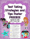 FREE Test Taking Strategies Poster ~ 8 tips