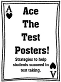 Test Taking Strategies Poster Set with Parent Letter