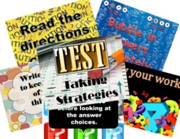 Test Taking Strategies Poster/Powerpoint