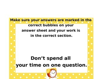 Test Taking Strategies Posters