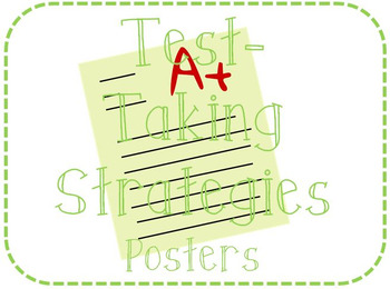 Test-Taking Strategies Posters