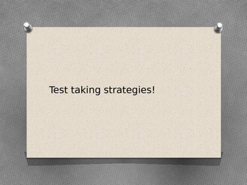 Test Taking Strategies Powerpoint