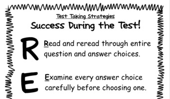 Test Taking Strategies - RELAX Acronym Poster