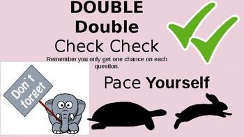 Test Taking Strategies Reminders