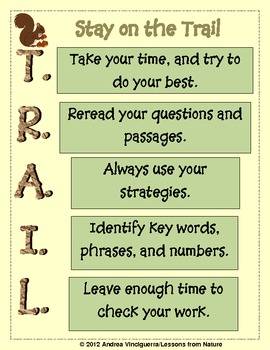 Test Taking Strategies: Stay on the T.R.A.I.L.