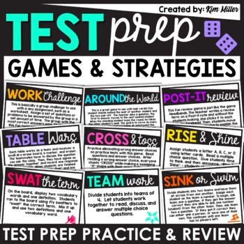 Test Prep: Test Taking Strategies and Games for the Classroom