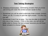 Test Taking Strategies and Preparation powerpoint for Standardized Tests