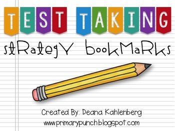 Test Taking Strategy Bookmarks